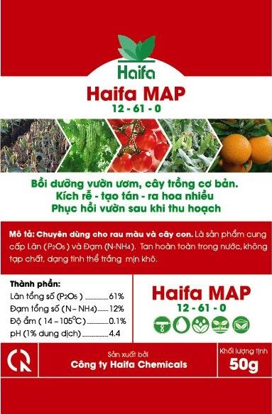 MAP HAIFA ( 12-61- 0) DÙNG CHO VƯỜN ƯƠM